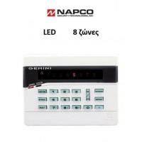 Πληκτρολόγιο Napco GEMINI RP8 LED, 8 ζώνες
